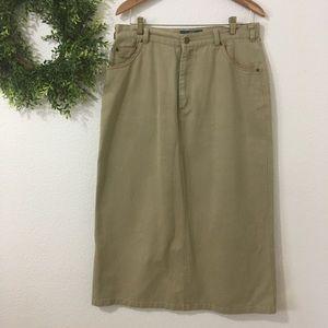 Orvis Khaki Skirt